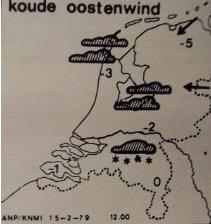 1979 oude weerkaartje